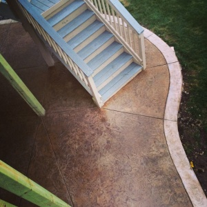 Edina, MN Stamped concrete Staircase