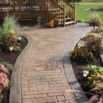 custom stamped concrete walkway