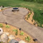 custom concrete patio