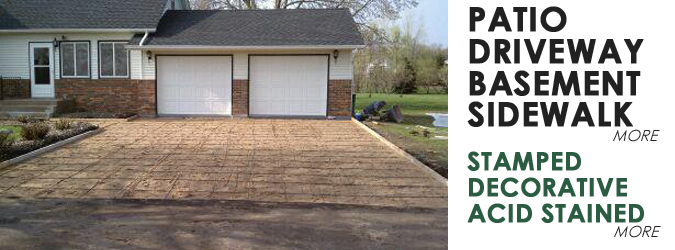 White Bear Lake Concrete Driveway by Lehmicke Construction