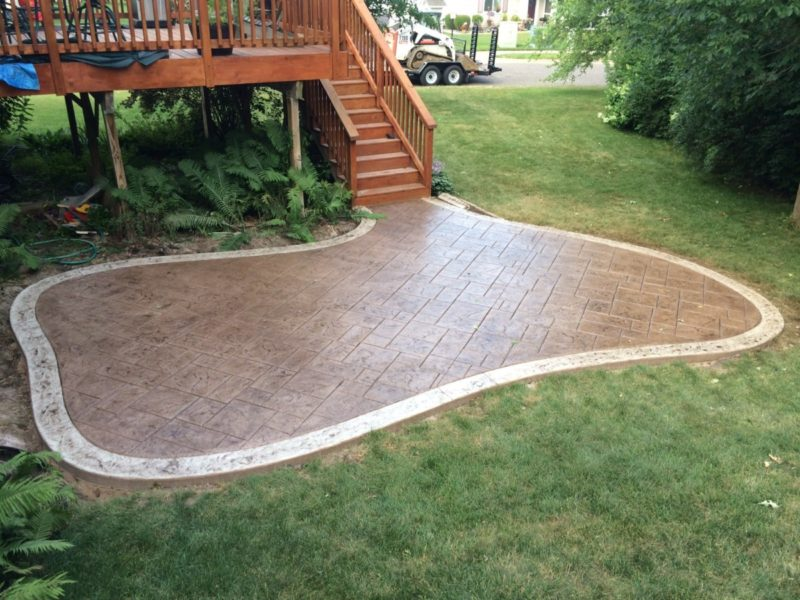 Stamped or Stained Concrete Patio Designs